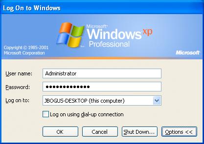 internet xp einloggen